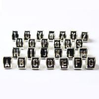 versilberte alphabets perlen großhandel-A B C Brief 26 Alphabet Dreieck Charm Bead 925 Silber Überzogene Mode Frauen Schmuck Atemberaubende Design Europäischen Stil Für Pandora Armband