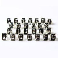 Wholesale Letter B Designs - A B C Letter 26 Alphabet Triangle Charm Bead 925 Silver Plated Fashion Women Jewelry Stunning Design European Style For Pandora DIY Bracelet