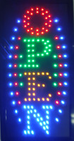 Barato Iluminado, Néon, Abertos, Sinal-10 * 19 polegadas Animated Motion LED Business Vertical Open Sign + On / Off Switch Bright Light Neon