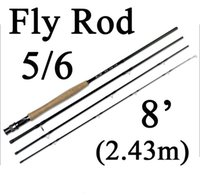 Wholesale Cheap Fish Products - Best Cheap fly fishing rod 2.43m 5 6 carbon firber fly rods for fishing product 8' light weight 105g SEC flyfishing rod