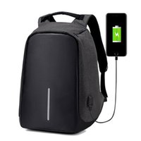Wholesale Laptop Bags 17 Black - Anti-theft Laptop Notebook Backpack With USB Charging Port Oxford Fabric Womens School Travel Shoulder Bag Business Backpacks
