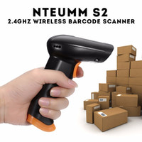 Wholesale Barcode Scanner Cables - Wholesale- NTEUMM S2 2.4GHz Wireless Wifi Cordless Barcode Scanner 120 Scans S Store 5000 Barcodes with 500mAh Li Battery+USB Cable