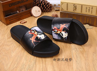 Wholesale Soft Sole Casual Leather Shoes - Summer Lovers Slippers Non-Slipping Sole Genuine Leather Beach Shoes Casual High Quality Mens Slippers Animals Prints Black Men Woman Shoes