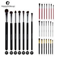 Happy Makeup Pro 7 stücke Make-Up Kosmetische Pony Pferd Haar Mix Größe Smudger Lidschatten Eye Shader Blending Pinsel Pinsel Sets Kits