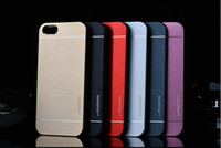 Wholesale Wholesale Metal Phone Covers - 8Colors Brushed Aluminum Metal Cover Phone Housing Shell Cell Phone Covers Case For iPhone 6 4.7 5.5 4S