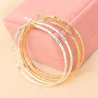 Wholesale Hoop Charms Wholesale - Charm Ear Stud Earings Jewelry Accessories Simple Earing Hoop Huggie Smooth Circle Earrings Golden Silver Plated Ear Acc Eardrop Jewellry