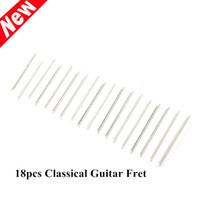 Wholesale Guitar Fretwire - 18pcs set 38 Inch Classical Guitar Fret Silver Classical Guitar Wire Fretwire Set 2.0mm Precut Width Guitar Parts order<$18no track