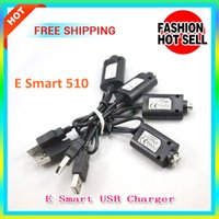 Wholesale Ego C For Ecigs - ecigs E Smart E Cigarette USB Charger cables Esmart 510 Charger cable E-Smart 808D eslim Charging For EVOD eGO ce4 ego-t ego-c e cigarettes