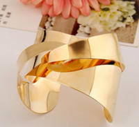 Wholesale Irregular Cuff Bangle - Rose Gold Bangle Irregular Type Cuff Bangles Women Gold Silver Metal Wide Bangles Bracelets Free Shipping NZ