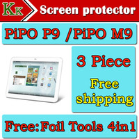 Wholesale Pipo M9 Screen Protector - Wholesale-For PiPo P9 PiPo M9 Tablet Screen Protector 10 inch For PiPo p9 PiPo m9 Protective Film Free Shipping+4 in1 Foil Tools as gift