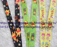 Wholesale Pooh Mobile - NEW Wholesale 100 pcs Winnie the Pooh phone cartoon Three models lanyard mobile neck strap vendor mixed send Free Shipping