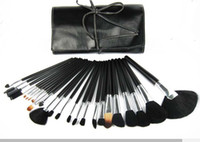 Wholesale Professional Makeup Prices - lowest price  HOT new 24Pcs set Professional Makeup Brushes with leather pouch