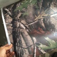 camouflage auto wrap film großhandel-Neue Matte Realtree Camo Vinylfolie echte Baumblatt-Tarnung Moosige Eiche Autoverpackung Folie für Fahrzeughaut, die Abdeckfolie 5x99ft