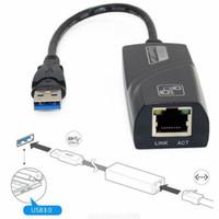 Wholesale gigabit ethernet network adapter - USB 3.0 to Gigabit Ethernet RJ45 LAN 10 100 1000 Network Adapter for Computer PC DH1700119