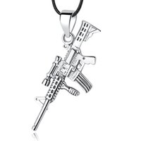 faire un fusil achat en gros de-New Authentic 925 Sterling Silver Bead Charm Rifle Gun Dangle Pendentifs Charms Fit Femmes Européennes Bracelets DIY Fabrication de bijoux