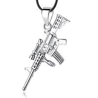 Wholesale rifle pendants for sale - Group buy New Authentic Sterling Silver Bead Charm Rifle Gun Dangle Pendants Charms Fit European Women Bracelets DIY Jewelry Making
