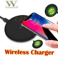 kfz-ladegerät großhandel-Telefon Wireless Ladegerät Pad Qi Wireless Ladegerät Set für iPhone X 8 Samsung Note8 S8 S7 S6 Wireless Ladegerät Stand mit Kleinpaket