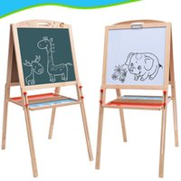 Wholesale Magnetic Writing Board Kids - Educational Enlightenment Toy wooden toy Multifunctional Drawing Writing Board Magnetic Puzzle Double Easel Kids Developmental toy present
