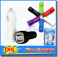 Mini 2 USB Micro Auto Ladegerät Adapter 12 V für iPod Touch ipad mini iPhone 4 4 ​​S 5 handy mp3 mp4 bunte