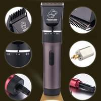 Wholesale Dog Shaver Trimmer - Wholesale-Pet Clipper Professional Rechargeable Dog Trimmer Shaver Electric Hair Clippers Shaving Ceramic Cat Grooming Cutting Machine