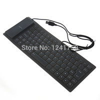 Gros-85-Key USB 2.0 silicone pliable ordinateur PC Wired Keyboard -gris
