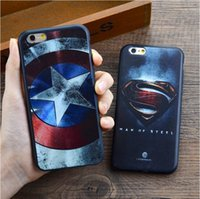 Wholesale Iphone Man Steel Case - FOR Superman: Man of Steel Case Waterproof Shockproof Hybrid Rubber TPU Case Cover For iPhone 8 7 Plus 6s