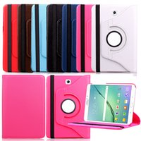 2015 Caso Rotating New 360 graus para Samsung Tab S2 T815 capas de couro Tampa Inteligente Folding Fólio 9,7 Covers polegadas Tablet Levante