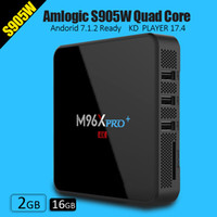 Wholesale Android Quad Band Wifi - M96X PRO PLUS Android 7.1 KD 17.4 2G RAM 16G ROM fully loaded Amlogic S905W core CPU double band wifi