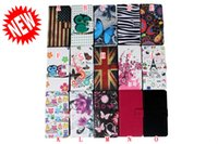 Wholesale Zebra Skin Wholesale - Flower Zebra Wallet Leather Case Pouch For Samsung Galaxy S7 Note5 A3 A5 J120 LG K8 G6 Huawei P8 Lite 2017 ID Card Flag Stand Butterfly Skin