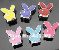 Wholesale Nose Studs Rabbit - 100pcs 8mm mix color rabbit slide charms fit 8mm Wristband brand new