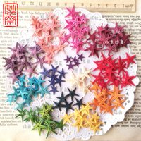 Wholesale Sea Stars Wholesale - 50pcs lot 8 Colors For choose Natural Sea Star Wishing Bottle Starfish DIY 0.5-1cm small shell adrift accessories mini