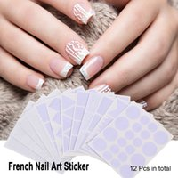 12 Pz Nail Sticker French Nail Art Guide French Tip Guide Nail Art Stencil Geometria Circle Stars Cuore Manicure DIY