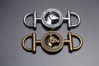 Wholesale Love Bracelet Connectors - Top Sale 100 pieces 43mm Horse Charms connector Beads Lover Pendant 7148 925 Tibet Silver DIY Jewelry Beads Hook Europe Bracelet Necklace