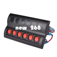Wholesale Dip Switch Circuit - Marine Boat Splashproof Switch Panel 6 Gang Circuit Breaker LED Indicator Rocker