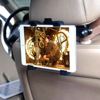 Supporto universale per auto Poggiatesta 7-10 pollici Tablet PC / GPS Supporto multi-clip Clip Car Seat Holder Stand
