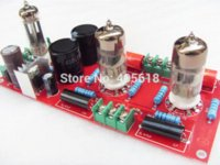 Wholesale 6n3 Tube Amplifier - Buffer 6N3+6Z4 Tube SRPP Preamplifier Amplifier board Pre-amp Audio Version 2.0 free shipping Amplifier Cheap Amplifier