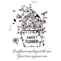 Wholesale packaging for sweets - Sweet flowers wall art decals decoration wall hangings graphics