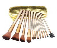 Wholesale HOT NEW Nude Makeup Brushes Nude piece Professional Brush sets Gold package or Black Package