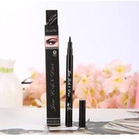 черная гель для подводки для глаз оптовых-Wholesale- Waterproof Beautiful Gel Cream Eye Liner Black Eyeliner Pen  Cosmetic maquiagens 1 PCS