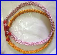 "Wholesale Germanium Titanium Ionic - Fashion jewlry Tri Braided necklace Ionic Titanium Germanium Sport Baseball Necklace size 16"" 18"" 20"" 22"""