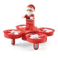 sistema controlador rc al por mayor-H67 Flying Santa Claus con canciones de Navidad RC Quadcopter Drone Toy RTF para niños mejor regalo presente