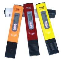 wasser ppm stifte großhandel-Digital TDS Meter Monitor TEMP PPM Tester Stift LCD Meter Stick Wasser Reinheit Monitore Mini Filter Hydroponische Tester TDS-3 mix farben