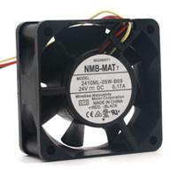 25mm dc-lüfter groihandel-NMB-MAT 2410ML-05W-B69 DC 24 V 0,17 A 60 * 60 * 25mm 60mm 6 cm Konverter Kühlung Ball Fan