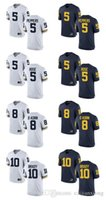 Cheap personalizzato Jumpman Michigan Wolverines Jersey 5 Peppers 5 Rose 8 O Korn 10 Brady Men Limited College Football personalizzato bianco blu Jersey