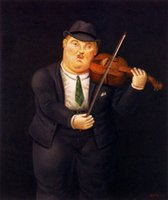 Wholesale Botero Hand Painted - Wall art,guitar man,Fernando Botero Painting Canvas,High quality,Hand-painted