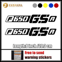 Wholesale Gs Wheel - motorcycle bike Fuel tank Wheels Fairing notebook Luggage helmet MOTO Sticker decals For BMW F650 GS F650 GSA F650GS A LOGO