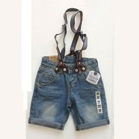 Wholesale Denim Overalls Sale - 3-10 years Hot sale Summer Kids Short Jeans Children Overall strap hort pants Destroyed Boy Brand High quality shorts Washed jeans boys