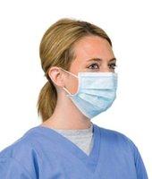 Wholesale Wholesale Flu Masks - 100pcs lot Disposable Sugical Earloop Face Salon Dust Cleaning Flu Medical Mask Face Mouth Mask MZ016