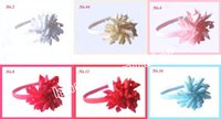 Wholesale Headbands Babies Hard - 10pcs Hair Sticks hair barrettes korker bows flowers hard plastic headbands baby curly ribbon Hair hoop girl's corker hair band PD009