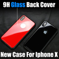 Wholesale Cellphone Glasses - For Iphone X Phone Case New Hot Selling TPU luxury Glass Back Phone Cover Mobile Cellphone Case For Iphone 8